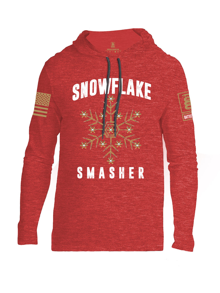 Battleraddle Snowflake Smasher Brass Sleeve Print Mens Thin Cotton Lightweight Hoodie