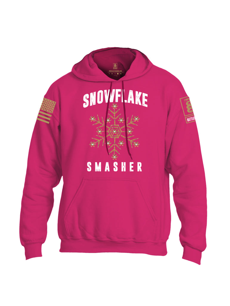 Battleraddle Snowflake Smasher Brass Sleeve Print Mens Blended Hoodie With Pockets