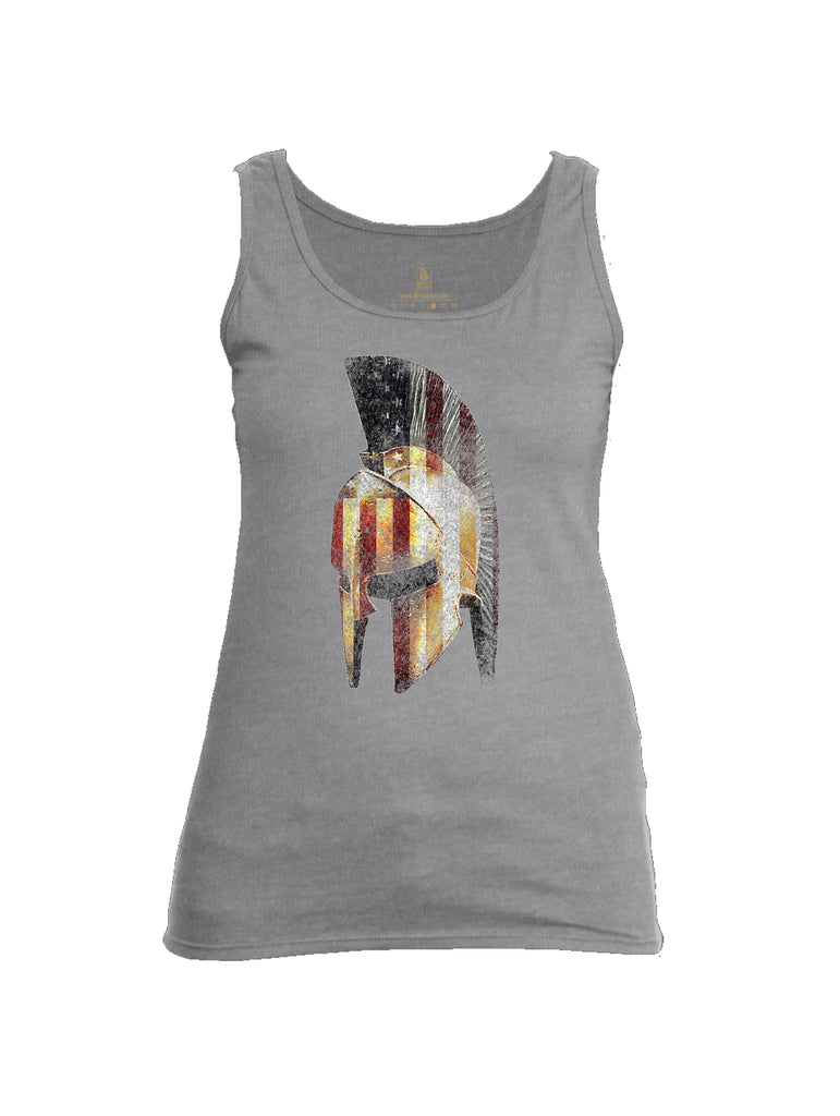 Battleraddle Spartan USA Flag Womens Cotton Tank Top
