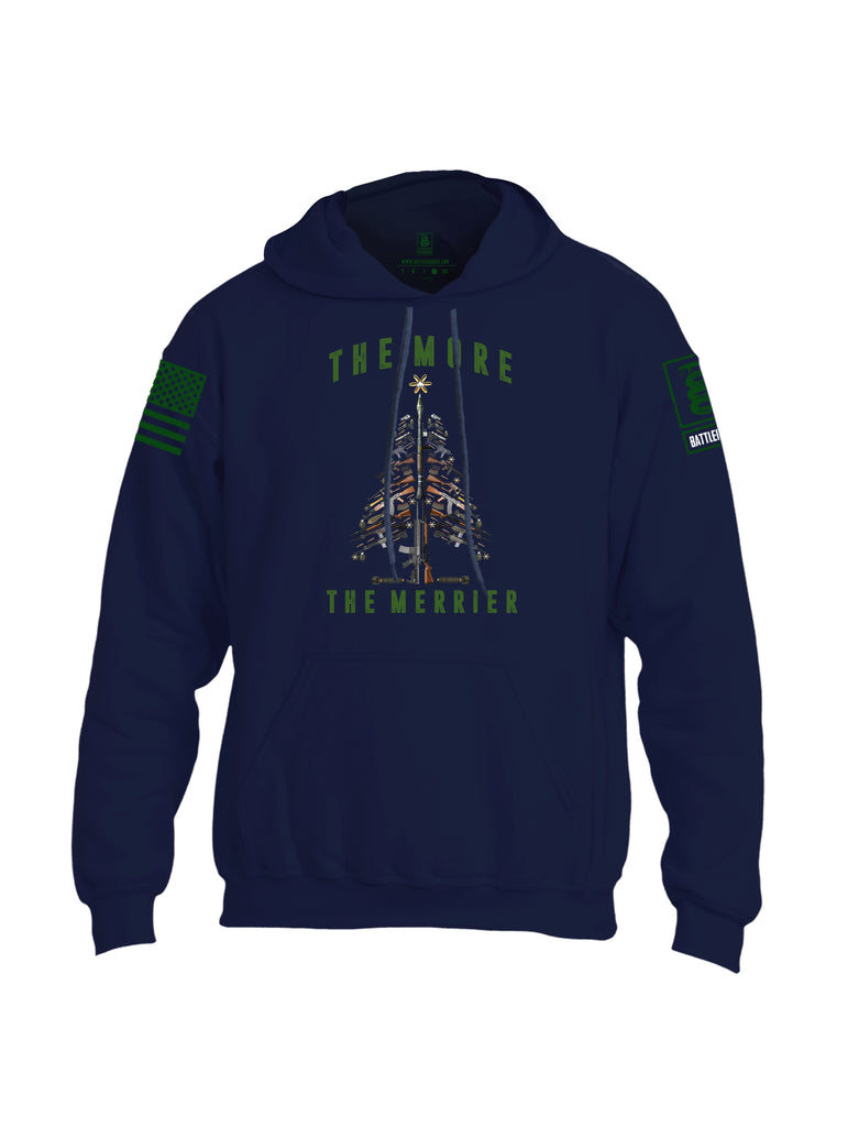 Battleraddle The More The Merrier Green Sleeve Print Mens Blended Hoodie With Pockets
