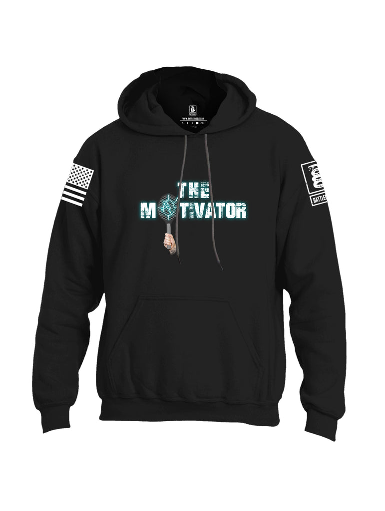 Battleraddle The Motivator White Sleeve Print Mens Blended Hoodie With Pockets