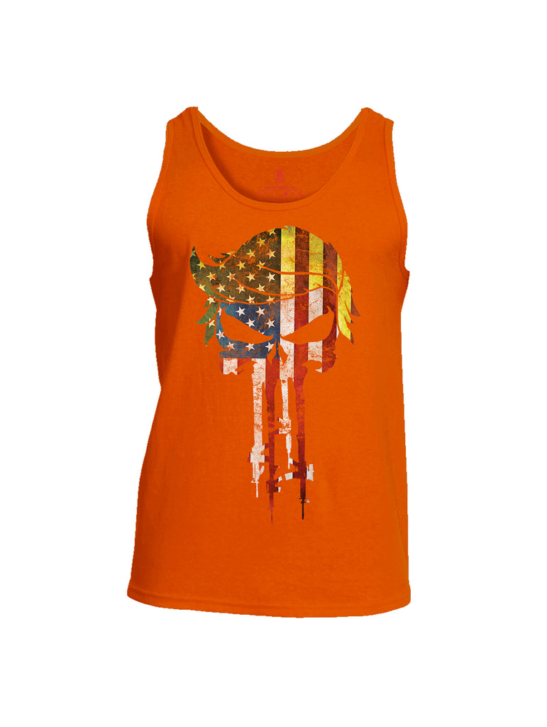 Battleraddle Trump Punisher USA Flag Mens Cotton Tank Top
