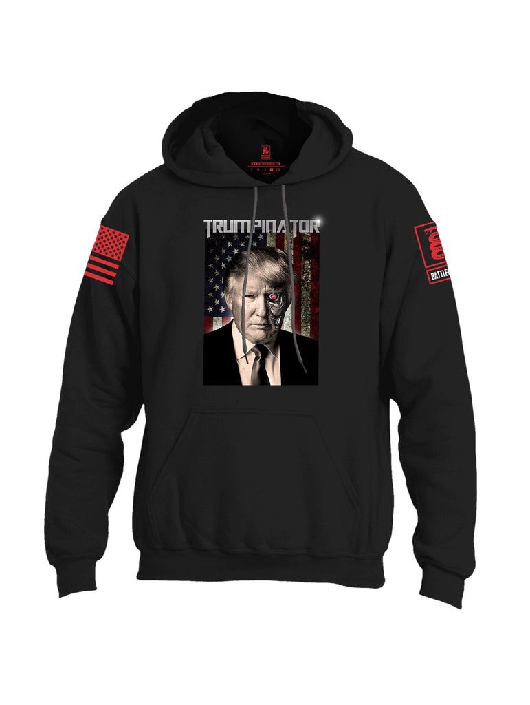 Battleraddle Trumpinator Red Sleeve Print Mens Blended Hoodie With Pockets