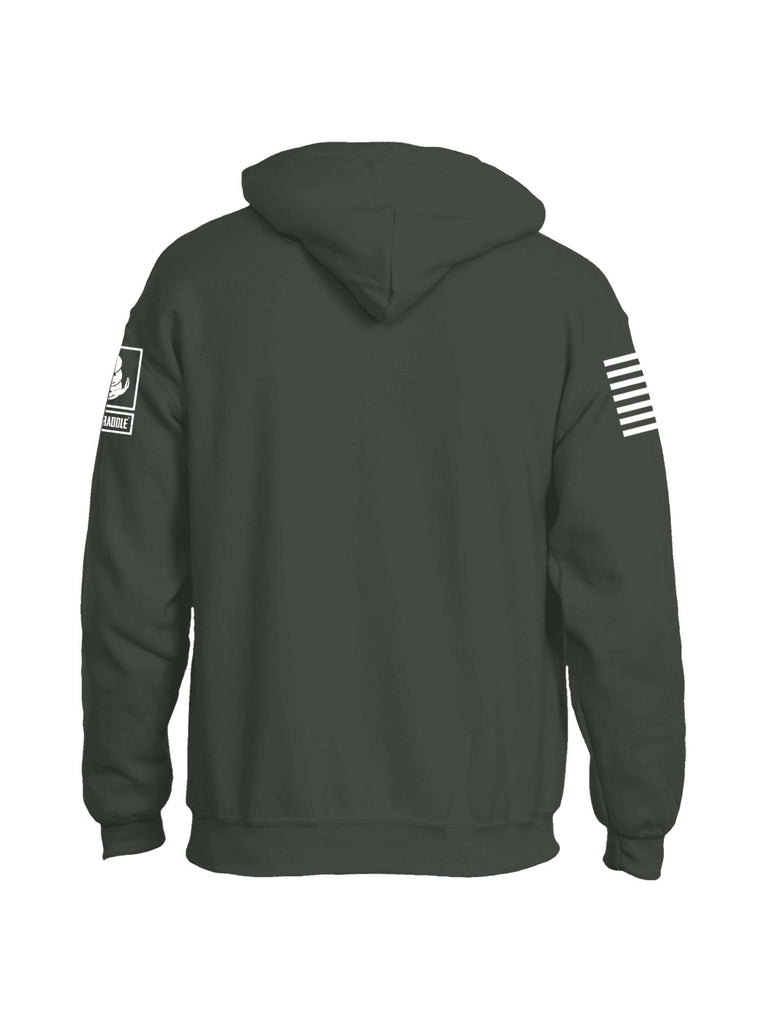 Battleraddle Happiness Is A Warm Pile Of Brass White Sleeve Print Mens Blended Hoodie With Pockets