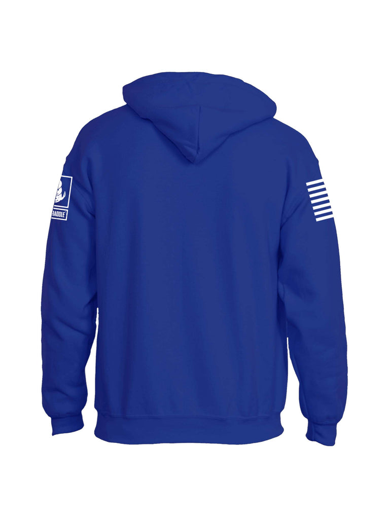 Battleraddle Work Hard Stay Hard Blue Line Mens Blended Hoodie With Pockets