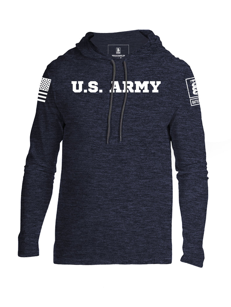 Battleraddle U.S. Army Certifying Janitors Since 1775 White Sleeve Print Mens Thin Cotton Lightweight Hoodie
