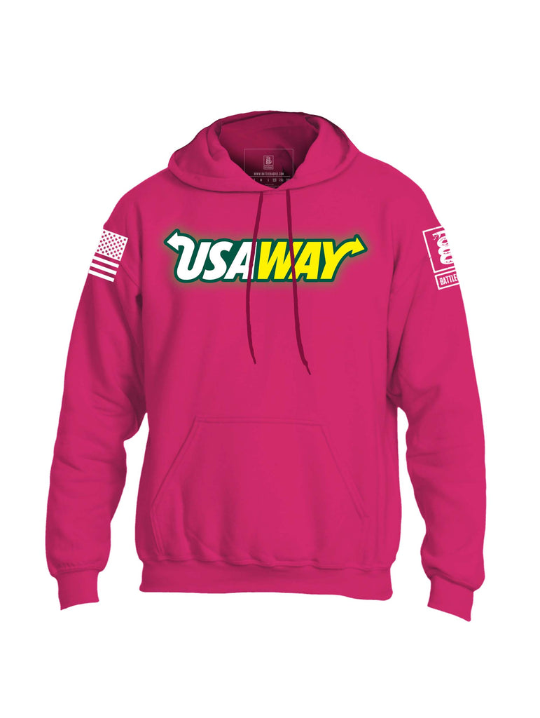 Battleraddle USAWAY Mens Blended Hoodie With Pockets