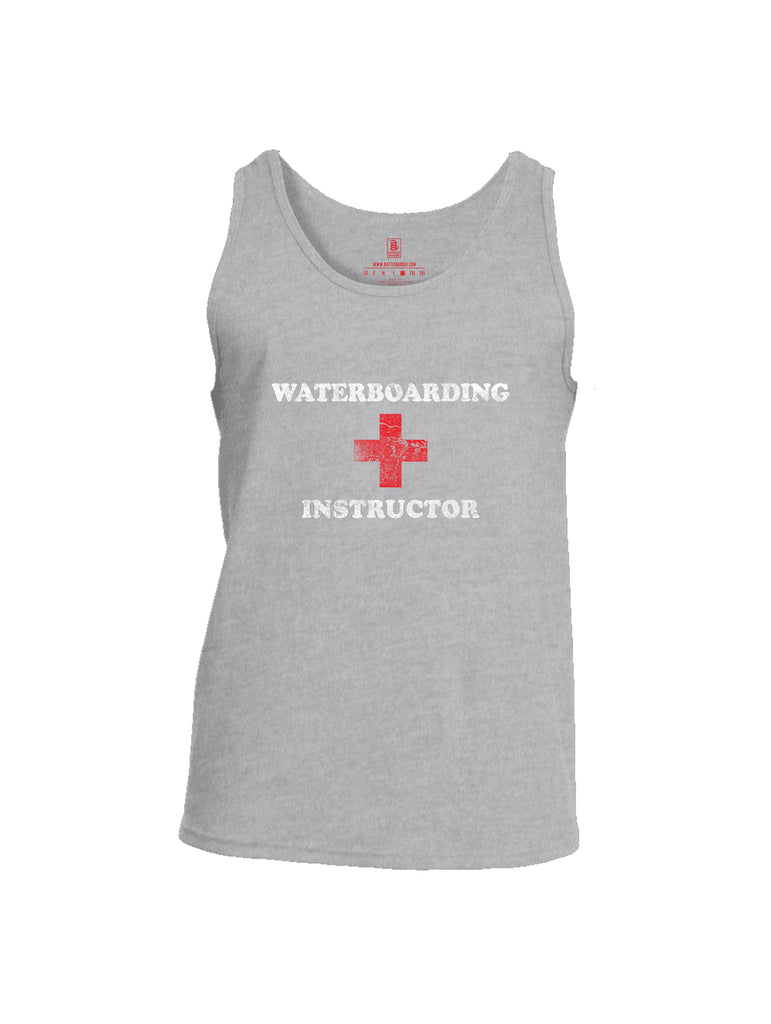 Battleraddle Waterboarding Instructor Mens Cotton Tank Top-Sports Grey