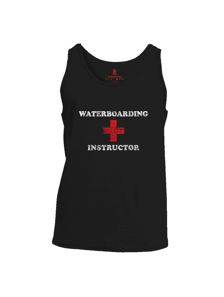 Battleraddle Waterboarding Instructor Mens Cotton Tank Top-Black
