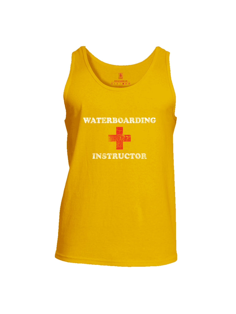 Battleraddle Waterboarding Instructor Mens Cotton Tank Top-Gold
