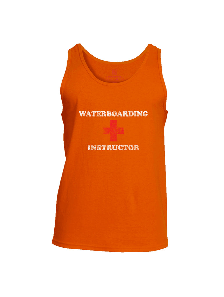 Battleraddle Waterboarding Instructor Mens Cotton Tank Top-Orange