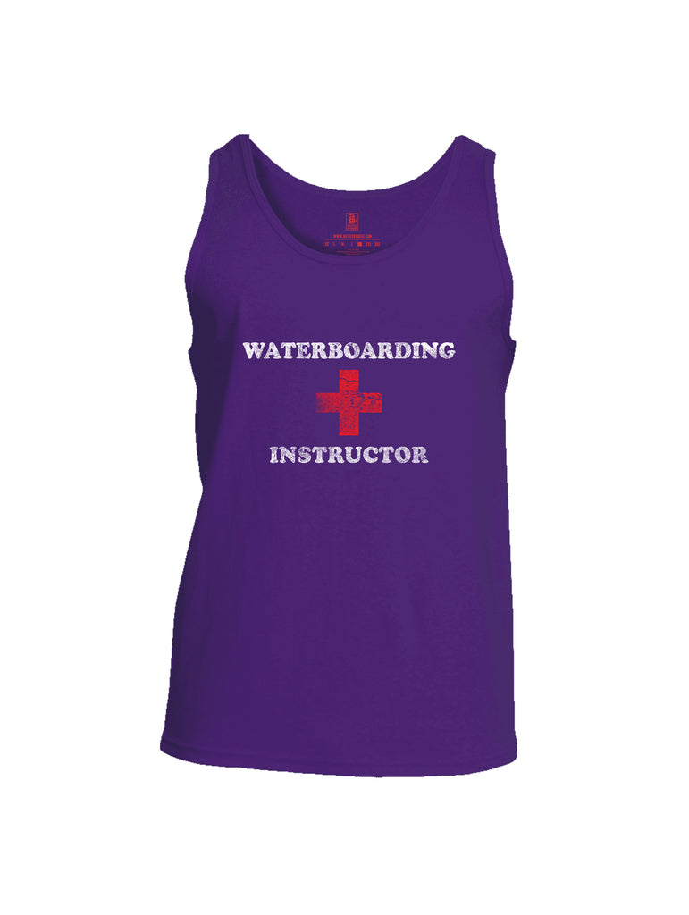 Battleraddle Waterboarding Instructor Mens Cotton Tank Top-Purple
