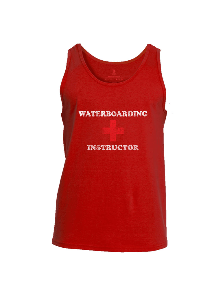 Battleraddle Waterboarding Instructor Mens Cotton Tank Top-Red