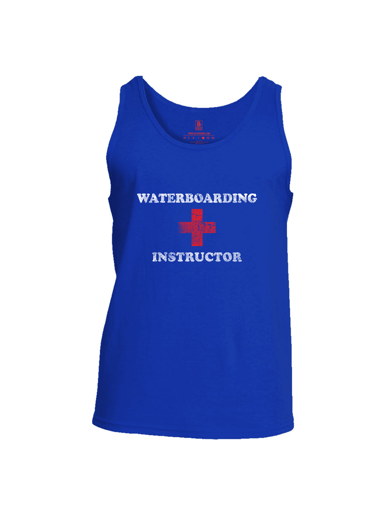 Battleraddle Waterboarding Instructor Mens Cotton Tank Top-Royal Blue