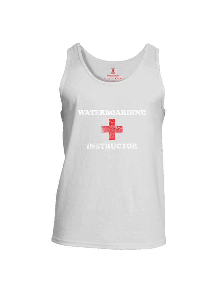 Battleraddle Waterboarding Instructor Mens Cotton Tank Top-White