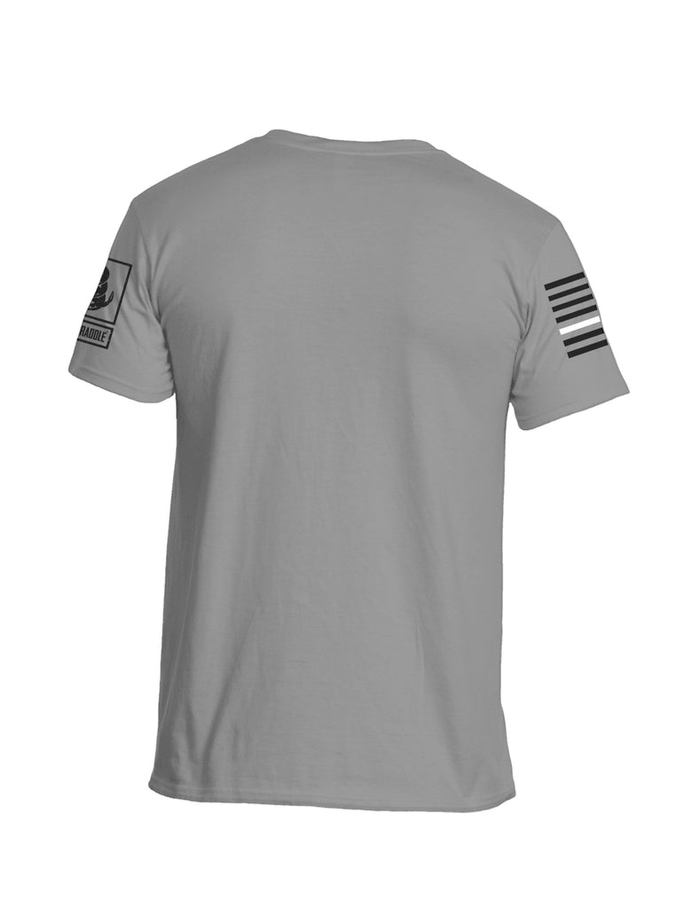 Battleraddle Battletested White Line Sleeve Flag Mens Crew Neck Cotton T Shirt - Battleraddle® LLC