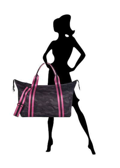 Haute Shore - Elite Weekender Bag (Morgan, Black Camo w/Pink & Black Straps) alt view 6