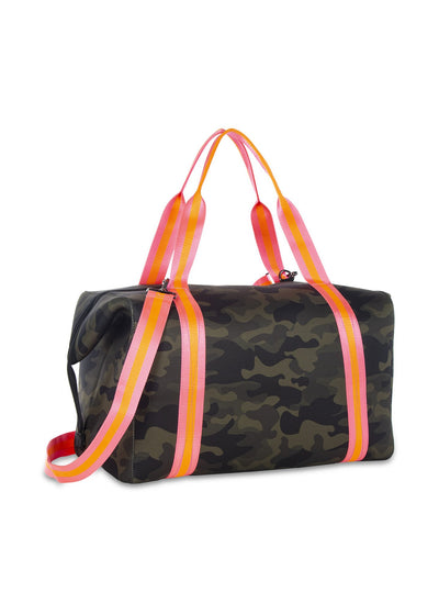 Haute Shore - Trip Weekender Bag (Morgan, Green Camo w/Orange & Pink Straps) alt view 2