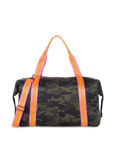 Haute Shore - Trip Weekender Bag (Morgan, Green Camo w/Orange & Pink Straps) alt view 6