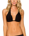 Sunsets Black Halter Top