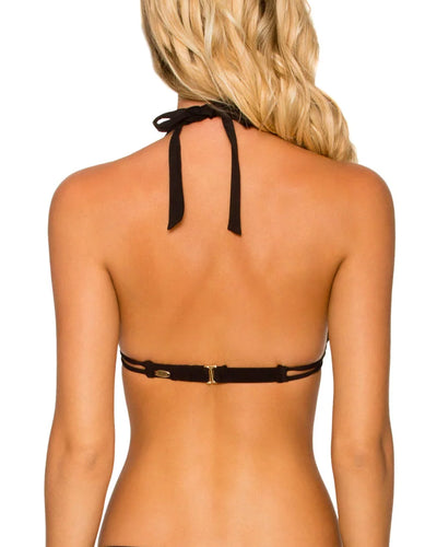 Sunsets Black Halter Top alt view 1