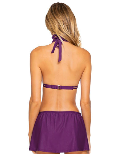 Sunsets Plum Marilyn Halter Top alt view 1