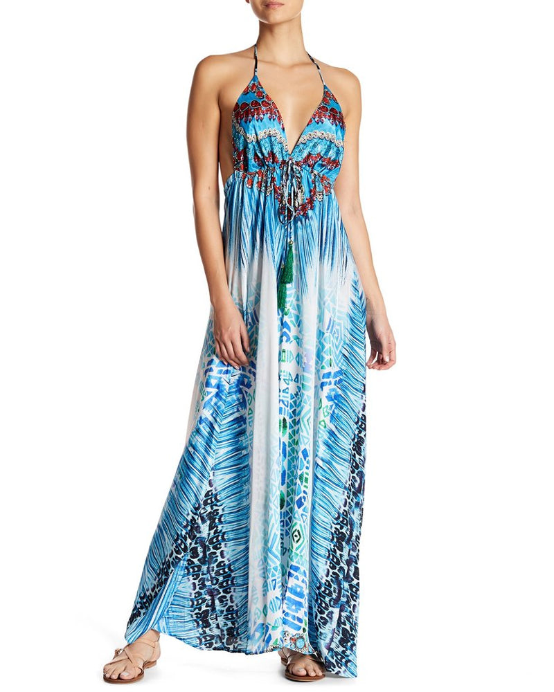 La Moda Halter Sunset Dress