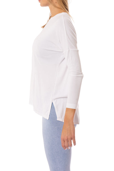 Hard Tail Forever - Slouchy  T (ROX-03, White) alt view 1