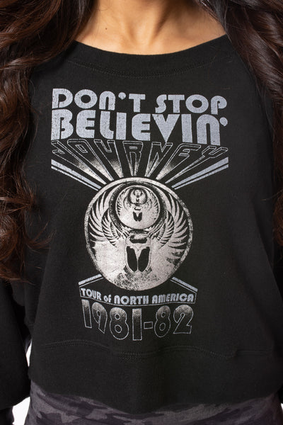 "Chaser - Journey - ""Don'T Stop Believin"" Long Sleeve (CW8444-JRY021, Black) alt view 4"