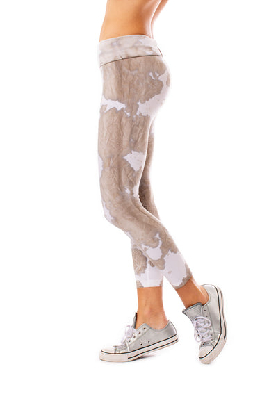 Roll Down Knee Legging (Style W-384, Tie-Dye DAL1) by Hard Tail Forever alt view 1