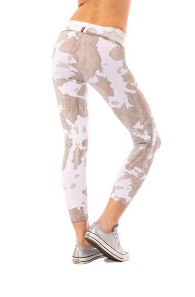 Roll Down Knee Legging (Style W-384, Tie-Dye DAL1) by Hard Tail Forever alt view 2