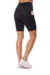 Spanx - Look At Me Now Bike Shorts (50180R, Black Camo) alt view 2