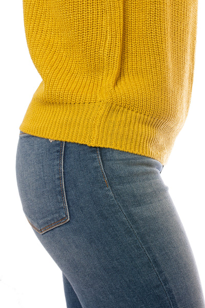 Velvet Heart - Josslyn Knit Sweater (KAI-22820, Gold) alt view 4