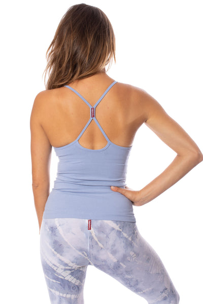 Hard Tail Forever - Freestyle Tank W/Bra (W-329, Light Blue)
