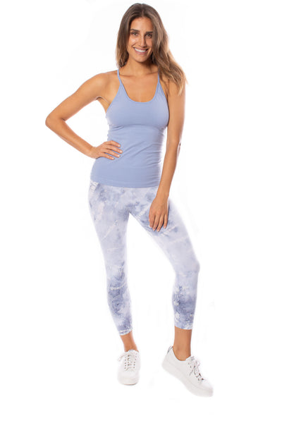 Hard Tail Forever - Freestyle Tank W/Bra (W-329, Light Blue) alt view 4