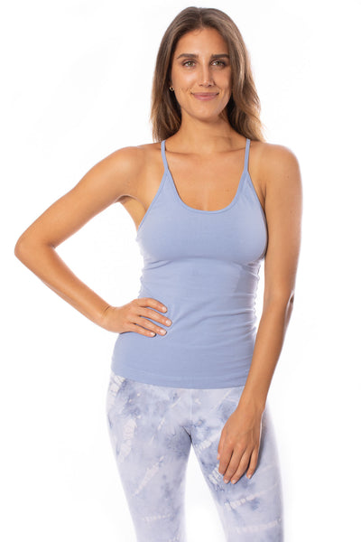 Hard Tail Forever - Freestyle Tank W/Bra (W-329, Light Blue) alt view 5