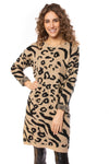 To The Loyal - Leopard Sweater Dress (tmk1171, Leopard) alt view 1