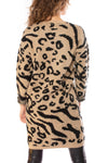 To The Loyal - Leopard Sweater Dress (tmk1171, Leopard) alt view 3