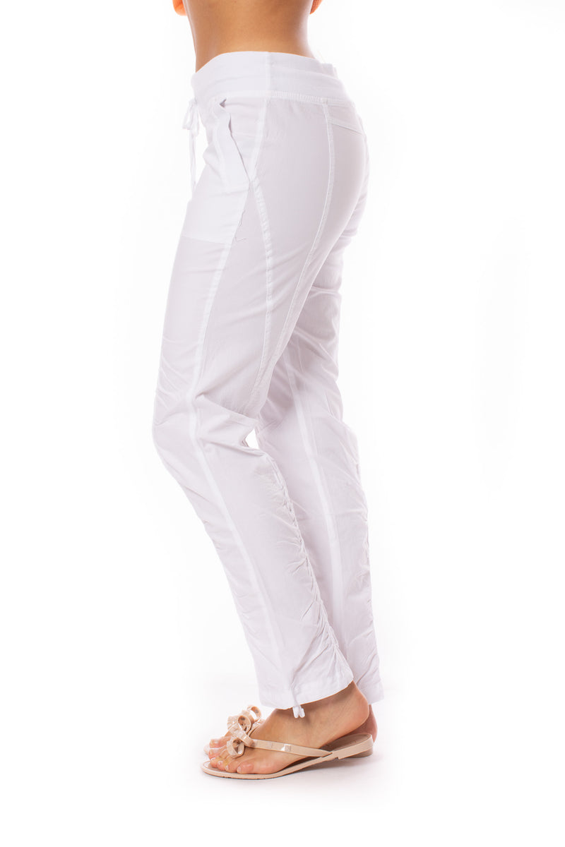 Wearables - Two Pocket Drawstring Jules Pant (21886w, White)