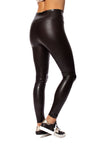Spanx - Faux Leather Crocodile Shine Pants (20303R, Dark Brown Croc Skin) alt view 1