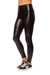 Spanx - Faux Leather Crocodile Shine Pants (20303R, Dark Brown Croc Skin) alt view 6