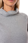 Live Out Loud Every Day - Crescent Snod Draw String Neck Long Sleeve (LSW3285, Gray) alt view 4