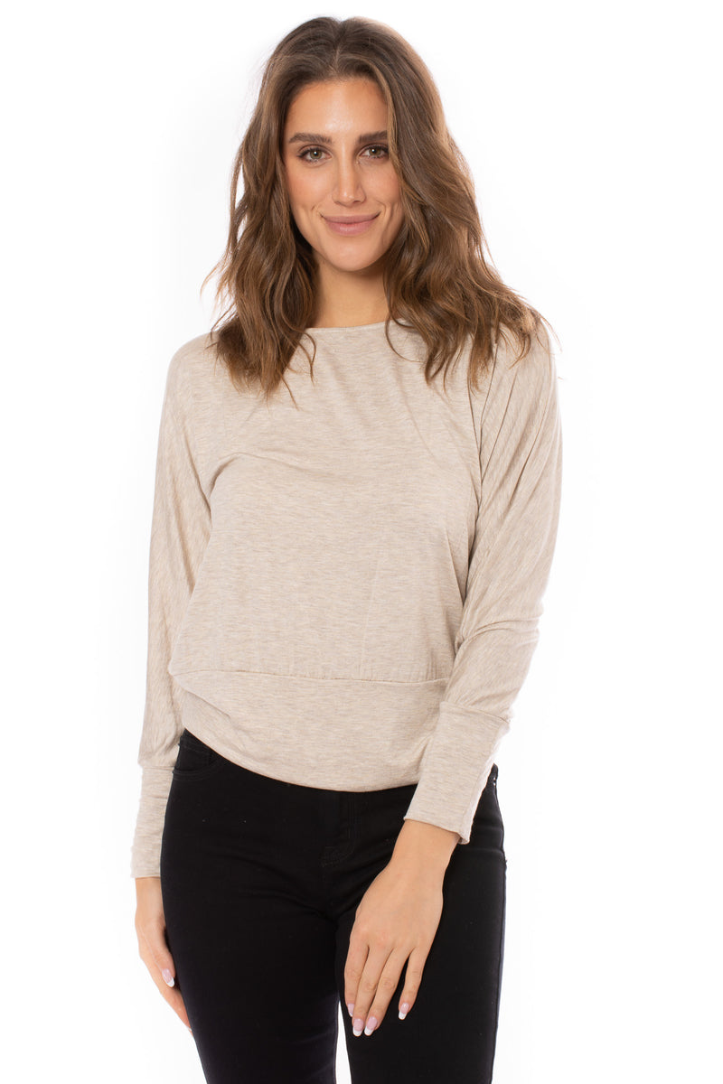 Veronica M. - Otis Banded Top (TF-1750, Oat)