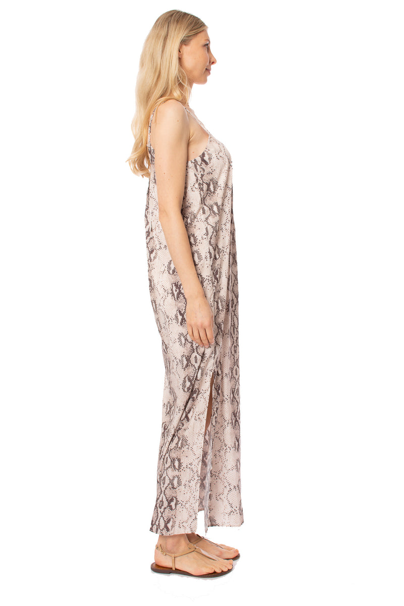 To The Loyal - Snake Skin Dress (JH1023, Pale Pink Snake Skin)