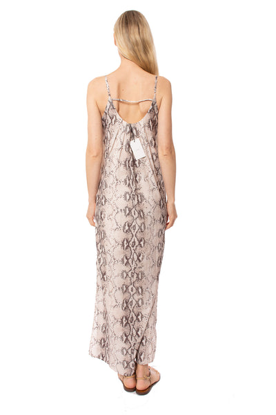 To The Loyal - Snake Skin Dress (JH1023, Pale Pink Snake Skin) alt view 2