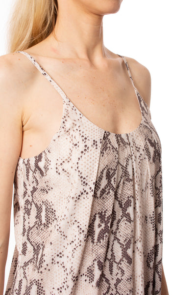 To The Loyal - Snake Skin Dress (JH1023, Pale Pink Snake Skin) alt view 3