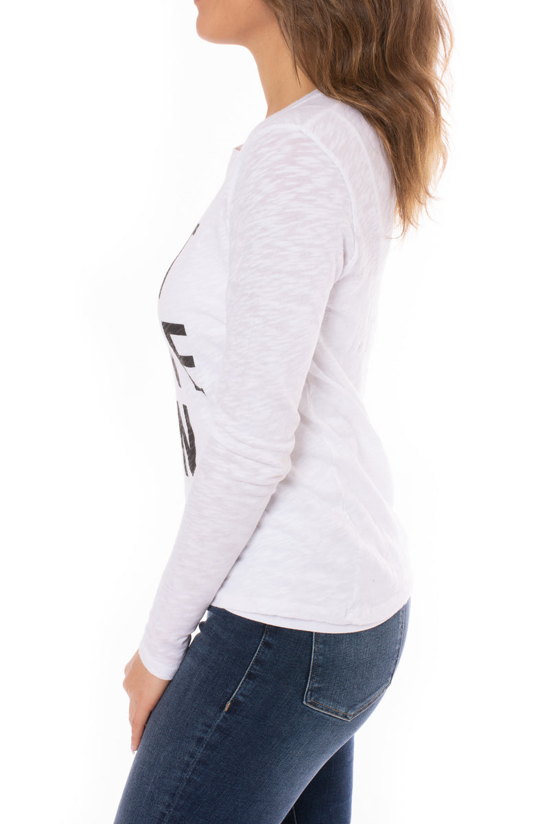 Elan - Rock & Love Long Sleeve T-Shirt (SMP10610, White)