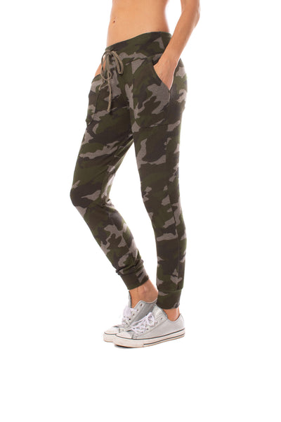 Hard Tail Forever - Double Pocket Drawstring Camo Jogger (HACH-05C, Thyme) alt view 1