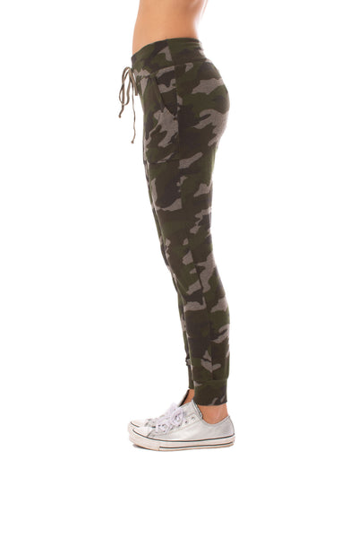 Hard Tail Forever - Double Pocket Drawstring Camo Jogger (HACH-05C, Thyme) alt view 2