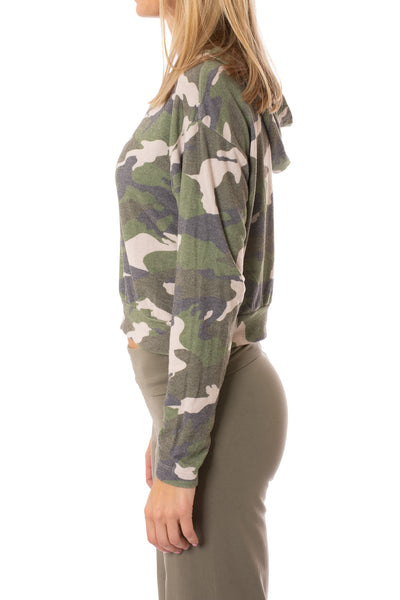 Hard Tail Forever - Camo Hoodie (HACH-02C, Rose Camo) alt view 1